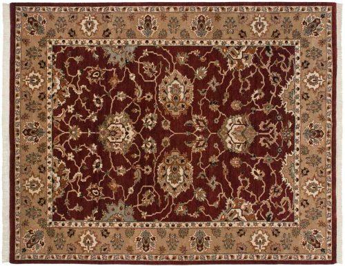8×10 Mahal Burgundy Oriental Rug 045469