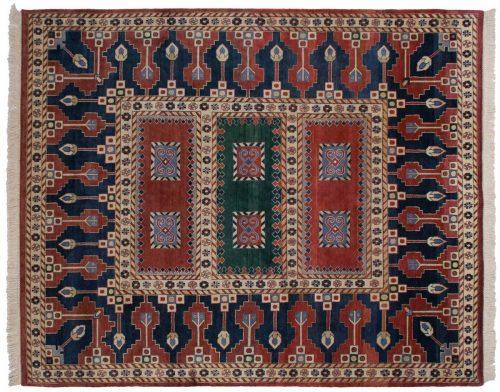 8×10 Geometric Red Oriental Rug 012480