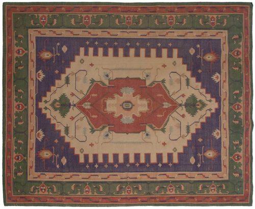 8×10 Dhurrie Beige Oriental Rug 024067