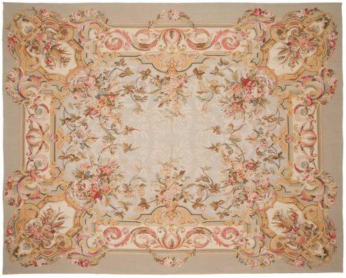 8×10 Floral Grey Oriental Rug 014330