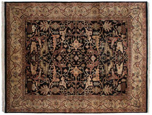 8×10 Heriz Black Oriental Rug 039351