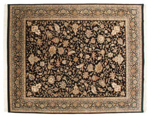 8×10 Isfahan Black Oriental Rug 038565