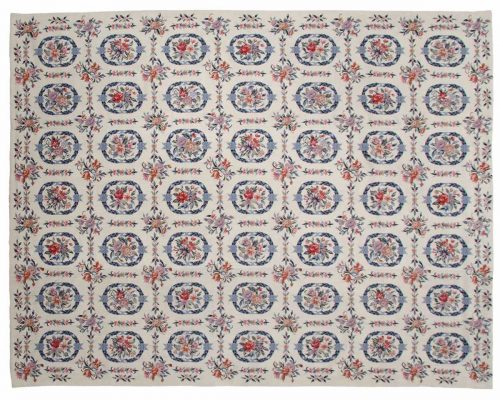 8×10 Block Ivory Oriental Rug 013946