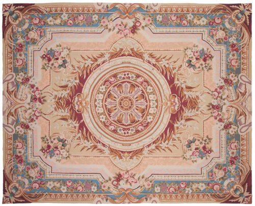 8×10 Floral Ivory Oriental Rug 014327