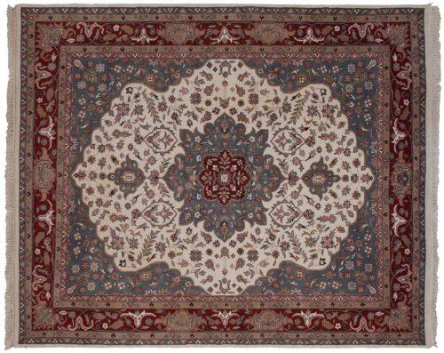 8×10 Tabriz Ivory Oriental Rug 016181