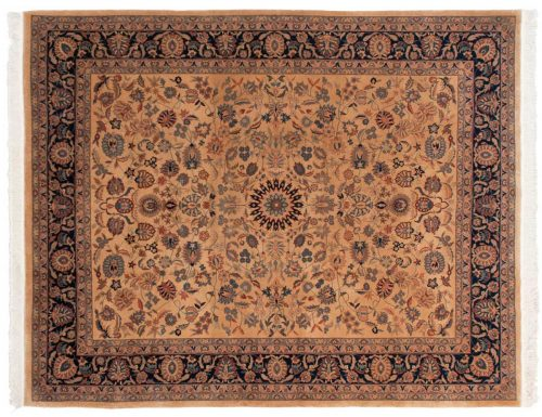 8×10 Persian Ivory Oriental Rug 019337