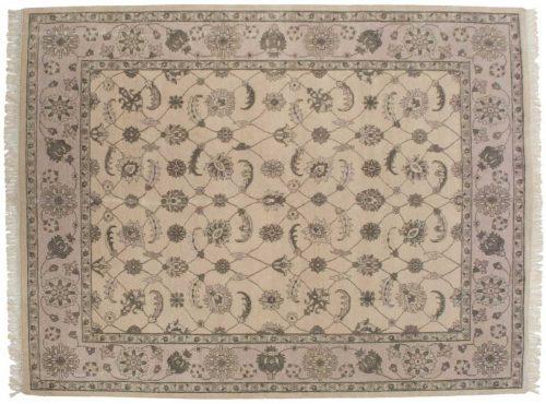8×10 Tabriz Ivory Oriental Rug 045968