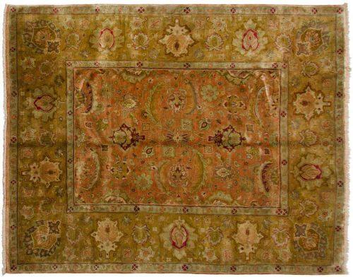 8×10 Jaipur Rust Oriental Rug 027870