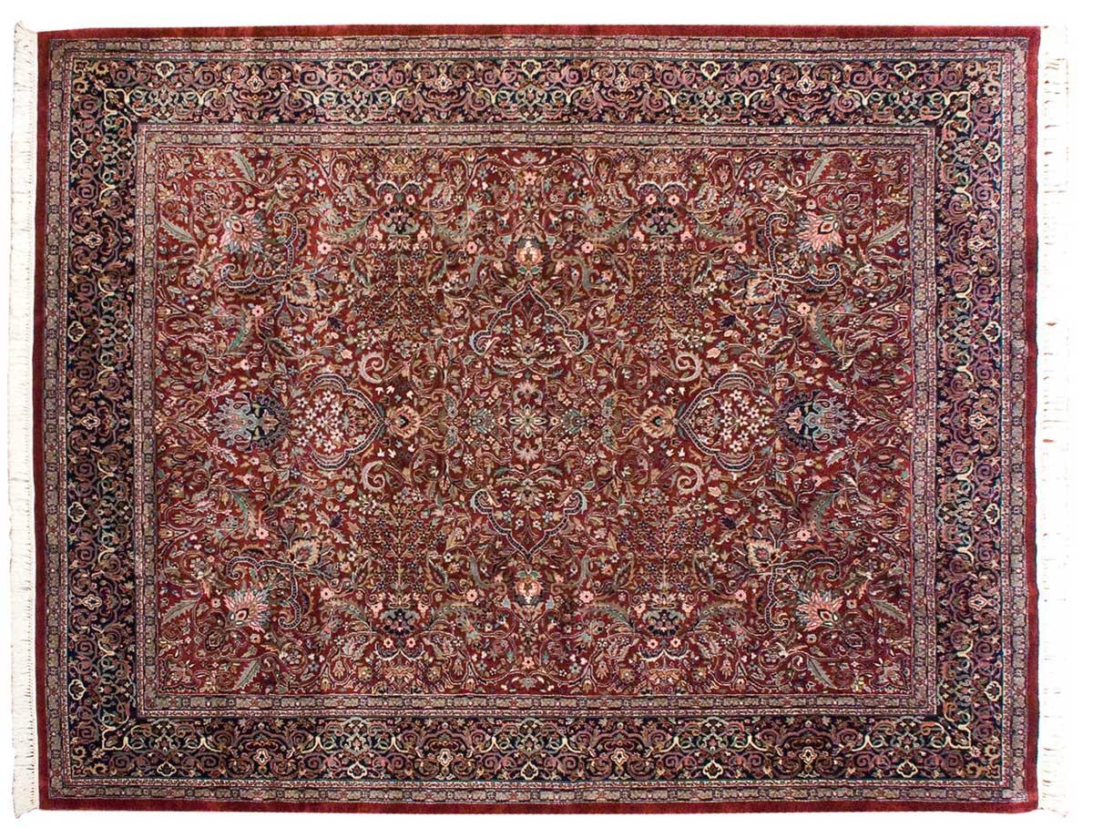 8 215 10 Kashan Burgundy Oriental Rug 021105 Carpets By