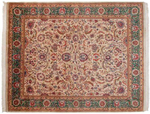 8×10 Kashan Ivory Oriental Rug 017054