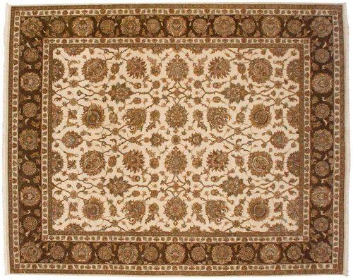 8×10 Kashan Ivory Oriental Rug 041429