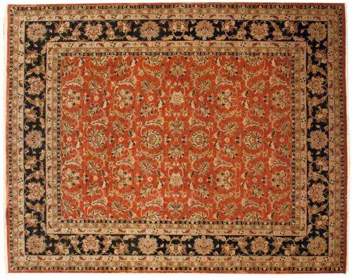 8×10 Kashan Rust Oriental Rug 041425