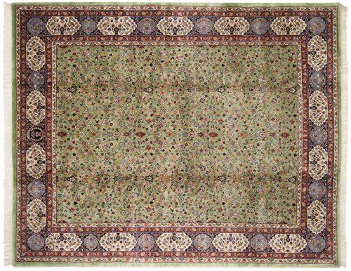 8×10 Kerman Green Oriental Rug 016710