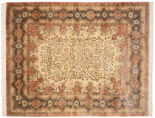 8×10 Kerman Ivory Oriental Rug 017050