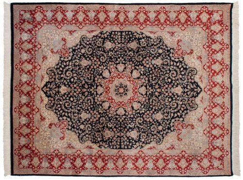 8×10 Mashad Blue Oriental Rug 015480