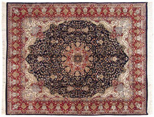 8×10 Mashad Blue Oriental Rug 015838