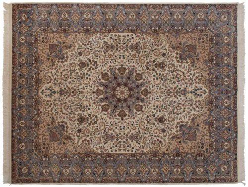8×10 Mashad Ivory Oriental Rug 016401