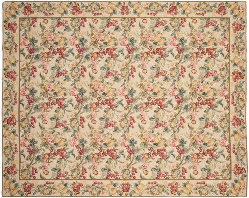 8×10 Floral Beige Oriental Rug 014313