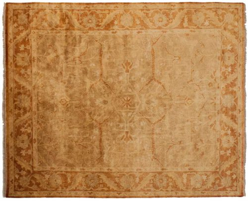 8×10 Oushak Brown Oriental Rug 040357