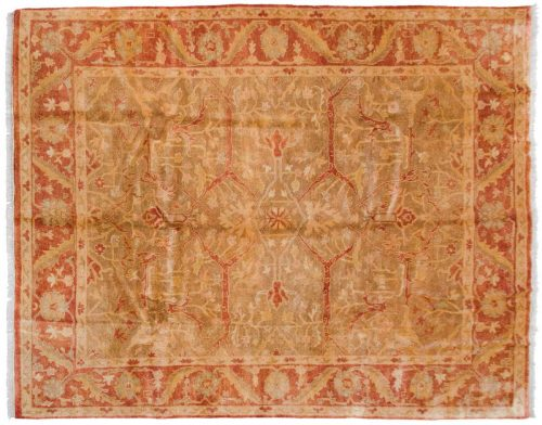 8×10 Oushak Brown Oriental Rug 042373