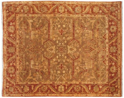 8×10 Oushak Brown Oriental Rug 042870