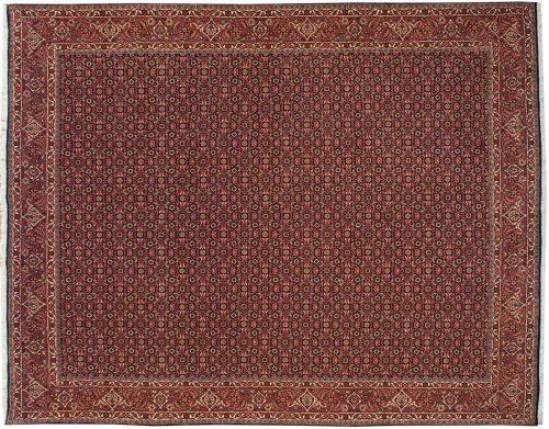 8×10 Persian Bijar Black Oriental Rug 014275