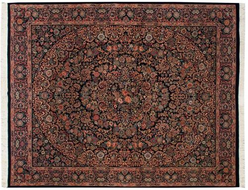 8×10 Isfahan Black Oriental Rug 025672
