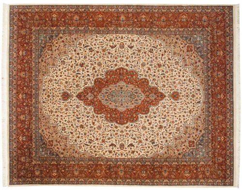 8×10 Persian Ivory Oriental Rug 021487