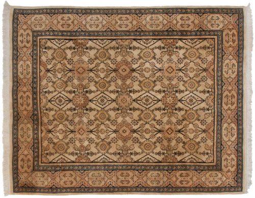 8×10 Persian Ivory Oriental Rug 025910