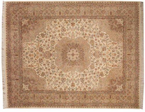 8×10 Kerman Ivory Oriental Rug 026036