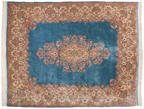 8×10 Persian Kerman Blue Oriental Rug 012187