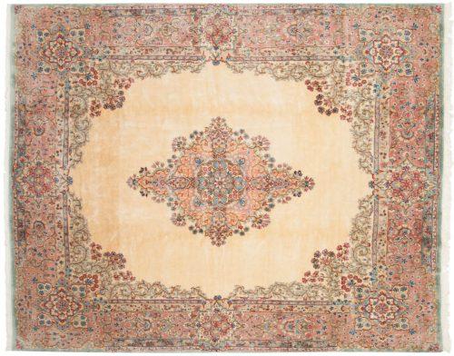 8×10 Persian Kerman Ivory Oriental Rug 017431