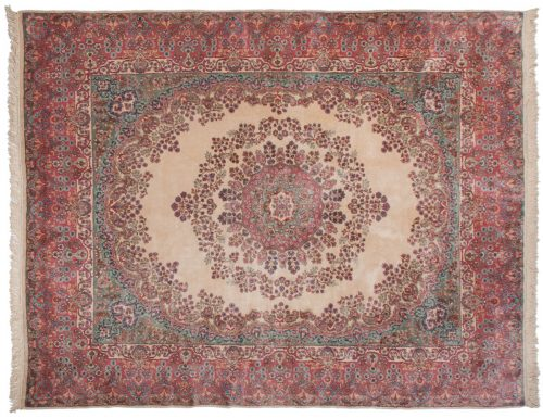 8×10 Persian Kerman Ivory Oriental Rug 017503