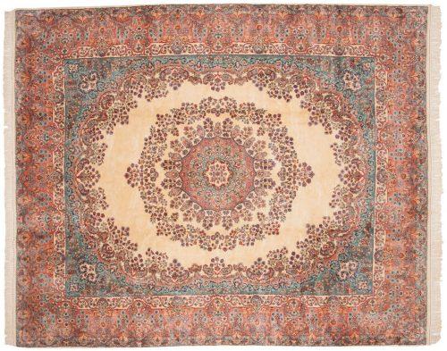 8×10 Persian Kerman Ivory Oriental Rug 017560