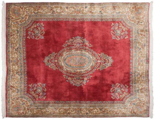 8×10 Persian Kerman Rose Oriental Rug 012296
