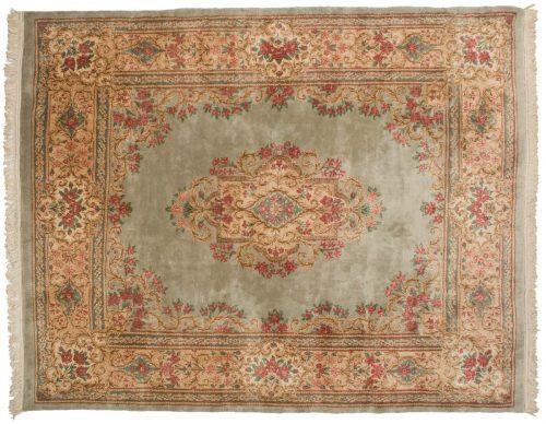 8×10 Persian Kerman Silver Oriental Rug 017374