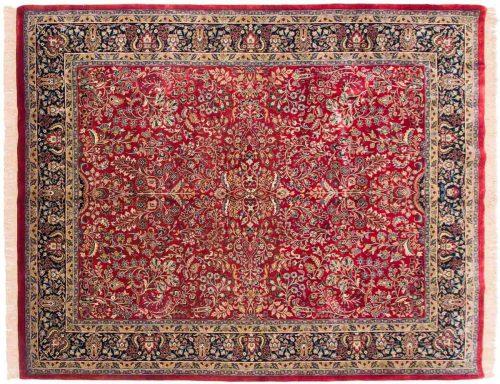 8×10 Sarouk Red Oriental Rug 038258