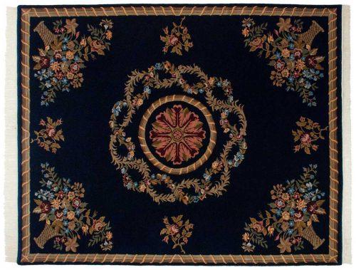 8×10 Savonnerie Blue Oriental Rug 038253