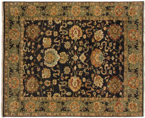 8×10 Sultanabad Black Oriental Rug 042745