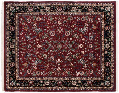 8×10 Tabriz Burgundy Oriental Rug 027966