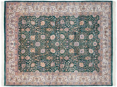 8×10 Tabriz Green Oriental Rug 016316