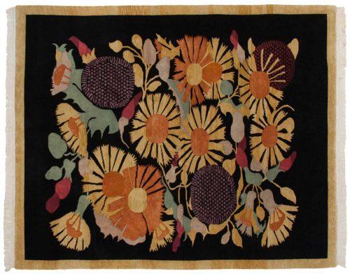 8×10 Tibetan Black Oriental Rug 016777