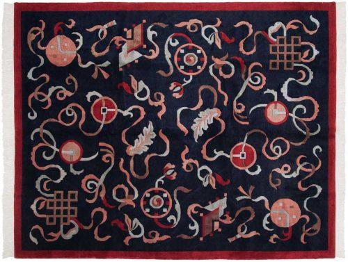 8×10 Tibetan Blue Oriental Rug 036390