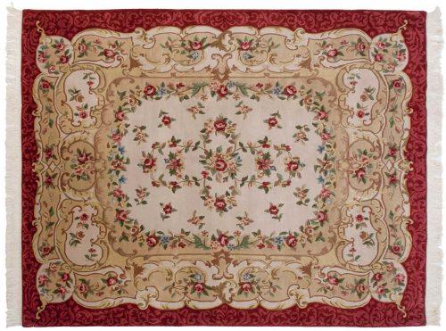 8×10 Tibetan Ivory Oriental Rug 031555