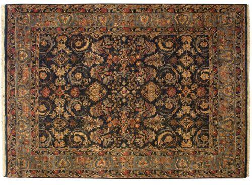 8×11 Agra Black Oriental Rug 014191
