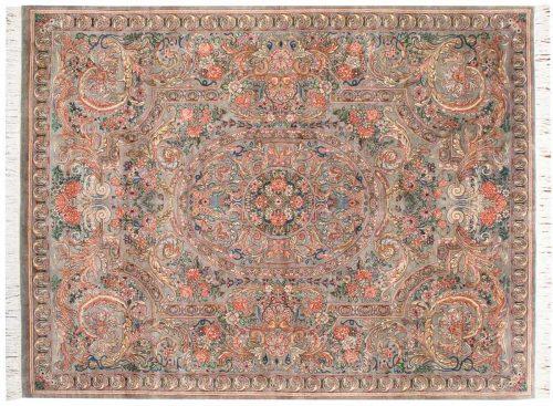 8×11 Aubusson Aqua Oriental Rug 025787