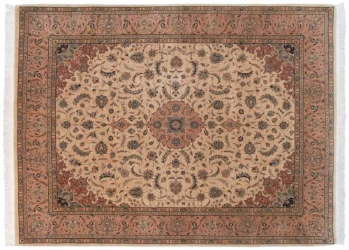 8×11 Persian Ivory Oriental Rug 030300