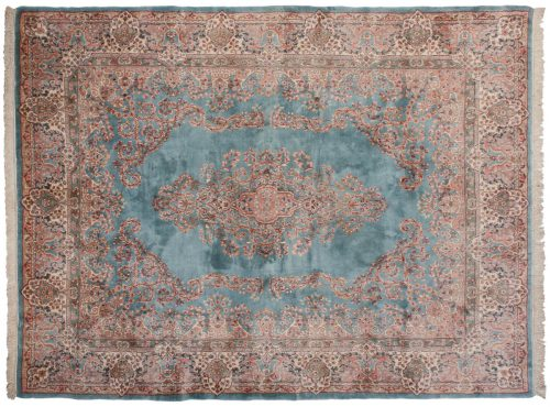 8×11 Persian Kerman Blue Oriental Rug 017552