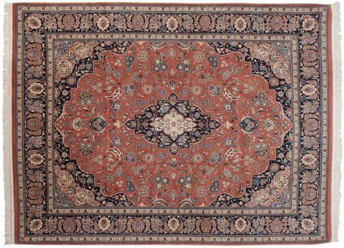 8×11 Persian Rose Oriental Rug 013816