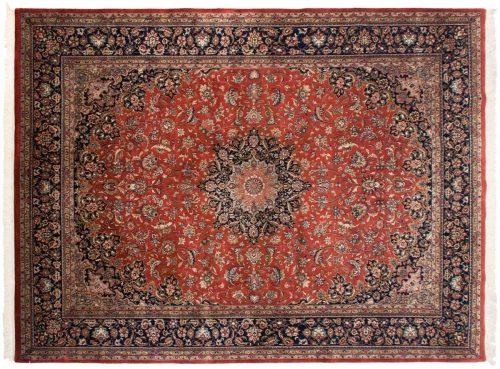 8×11 Kashan Rust Oriental Rug 024347